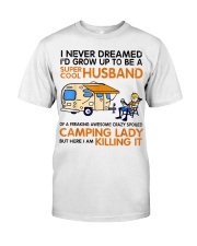 Super cool husband of camping lady Classic T-Shirt front