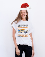 Super cool husband of camping lady Classic T-Shirt lifestyle-holiday-crewneck-front-1