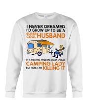Super cool husband of camping lady Crewneck Sweatshirt thumbnail