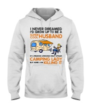 Super cool husband of camping lady Hooded Sweatshirt thumbnail