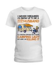 Super cool husband of camping lady Ladies T-Shirt thumbnail