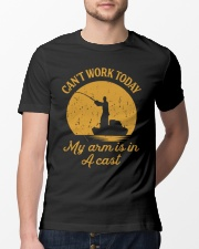 Can't Work Today My Arm Is In A Cast Classic T-Shirt lifestyle-mens-crewneck-front-13