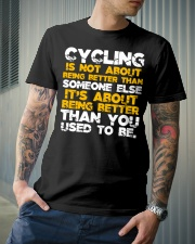 Cycling is about better than you used to be Classic T-Shirt lifestyle-mens-crewneck-front-6
