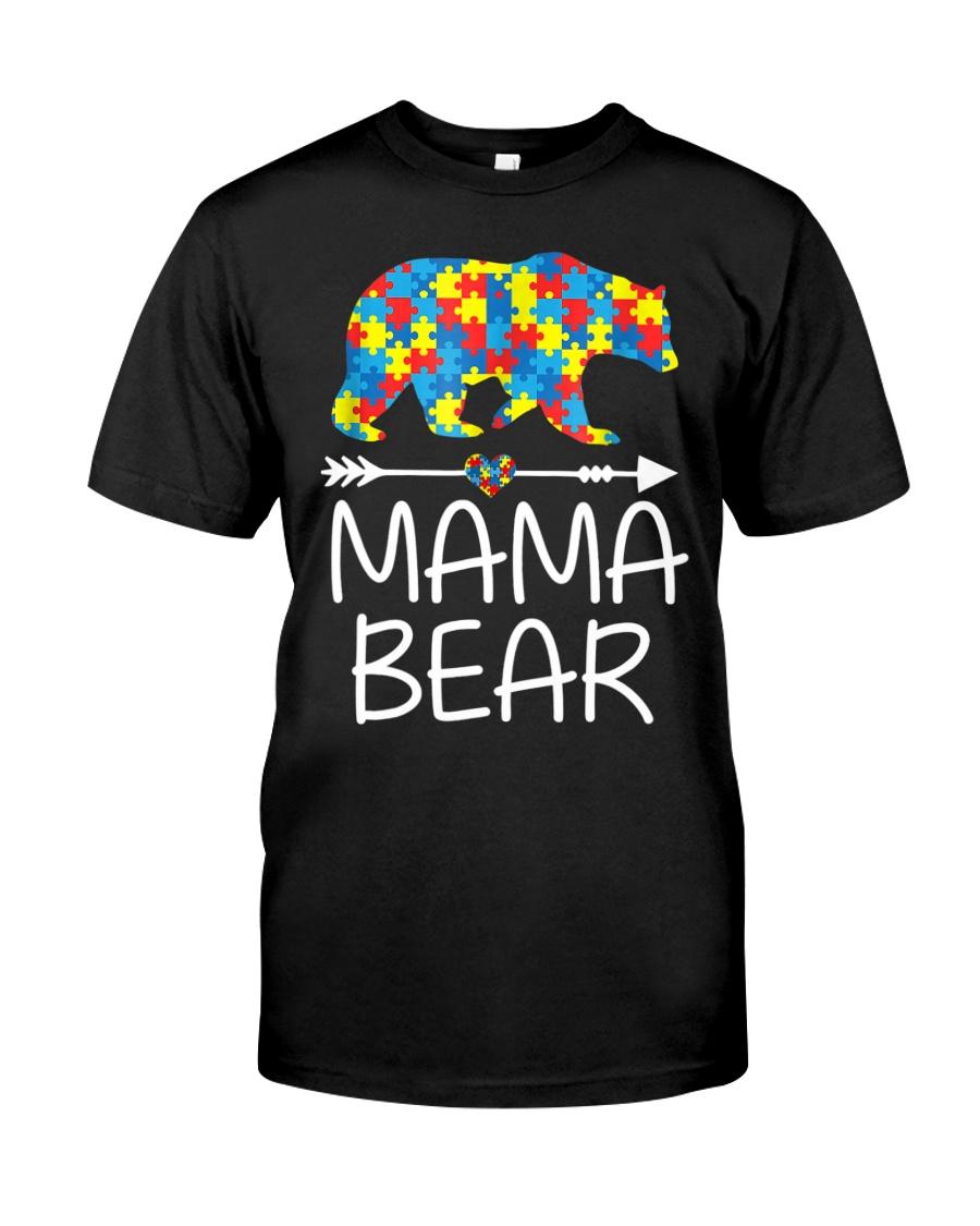 Autism Mama Bear design Classic T-Shirt