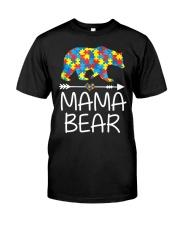 Autism Mama Bear design Classic T-Shirt front