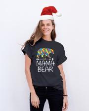 Autism Mama Bear design Classic T-Shirt lifestyle-holiday-crewneck-front-1
