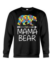 Autism Mama Bear design Crewneck Sweatshirt thumbnail