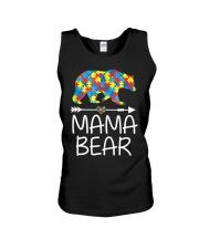 Autism Mama Bear design Unisex Tank thumbnail
