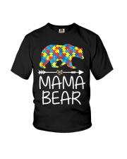 Autism Mama Bear design Youth T-Shirt thumbnail