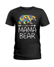 Autism Mama Bear design Ladies T-Shirt thumbnail