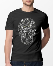 Cycling skull cool design Classic T-Shirt lifestyle-mens-crewneck-front-13