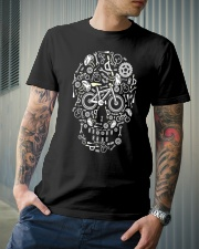 Cycling skull cool design Classic T-Shirt lifestyle-mens-crewneck-front-6