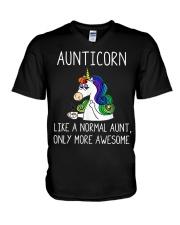 Aunticorn V-Neck T-Shirt thumbnail