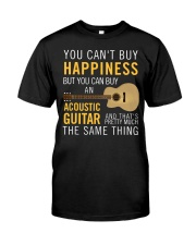 Guitar and happiness are the same thing Classic T-Shirt front