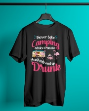 Never Take Camping Advice From Me Classic T-Shirt lifestyle-mens-crewneck-front-3