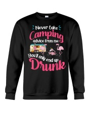 Never Take Camping Advice From Me Crewneck Sweatshirt thumbnail