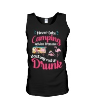 Never Take Camping Advice From Me Unisex Tank thumbnail