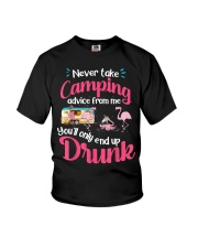 Never Take Camping Advice From Me Youth T-Shirt thumbnail