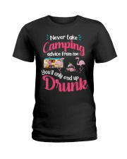 Never Take Camping Advice From Me Ladies T-Shirt thumbnail