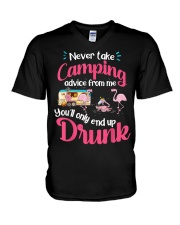 Never Take Camping Advice From Me V-Neck T-Shirt thumbnail