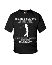 Yes He's Golfing Youth T-Shirt thumbnail