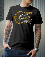 Yep 100 miles a day cycling Classic T-Shirt lifestyle-mens-crewneck-front-6