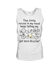 The voices in my head telling me get more bicyles Unisex Tank thumbnail