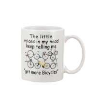 The voices in my head telling me get more bicyles Mug front