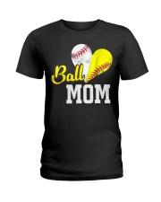 Baseball Mom Ladies T-Shirt thumbnail