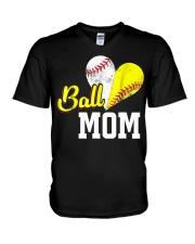Baseball Mom V-Neck T-Shirt thumbnail