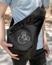 Cycling Smile Embroidery Design Sling Pack Sling Pack garment-embroidery-slingpack-lifestyle-07