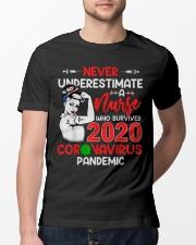 Never Underestimate A Nurse Classic T-Shirt lifestyle-mens-crewneck-front-13