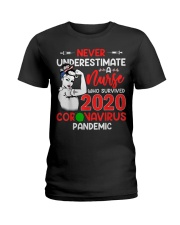 Never Underestimate A Nurse Ladies T-Shirt thumbnail