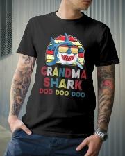 Grandma Shark Vintage Classic T-Shirt lifestyle-mens-crewneck-front-6