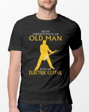 Never underestimate old man with electric guitar Classic T-Shirt lifestyle-mens-crewneck-front-13