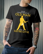 Never underestimate old man with electric guitar Classic T-Shirt lifestyle-mens-crewneck-front-6