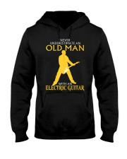 Never underestimate old man with electric guitar Hooded Sweatshirt thumbnail