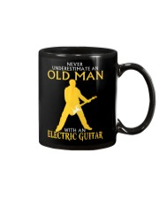 Never underestimate old man with electric guitar Mug thumbnail