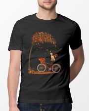 Autumn dog on bicycle beautiful design Classic T-Shirt lifestyle-mens-crewneck-front-13