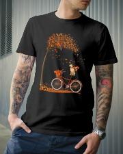 Autumn dog on bicycle beautiful design Classic T-Shirt lifestyle-mens-crewneck-front-6