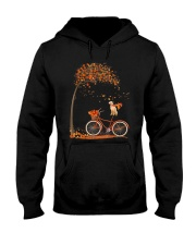 Autumn dog on bicycle beautiful design Hooded Sweatshirt thumbnail