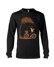 Autumn dog on bicycle beautiful design Long Sleeve Tee thumbnail
