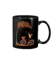 Autumn dog on bicycle beautiful design Mug thumbnail