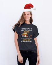 husband of a camping lady Classic T-Shirt lifestyle-holiday-crewneck-front-1