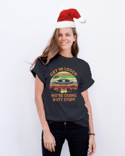 We're Doing Butt Stuff Classic T-Shirt lifestyle-holiday-crewneck-front-1