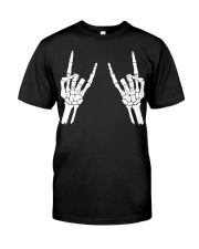 Rock n roll skeleton hand cool design for you Classic T-Shirt thumbnail