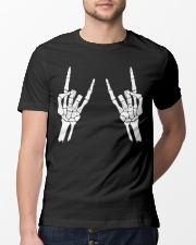Rock n roll skeleton hand cool design for you Classic T-Shirt lifestyle-mens-crewneck-front-13