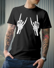 Rock n roll skeleton hand cool design for you Classic T-Shirt lifestyle-mens-crewneck-front-6