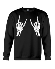 Rock n roll skeleton hand cool design for you Crewneck Sweatshirt tile