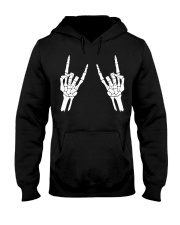 Rock n roll skeleton hand cool design for you Hooded Sweatshirt thumbnail